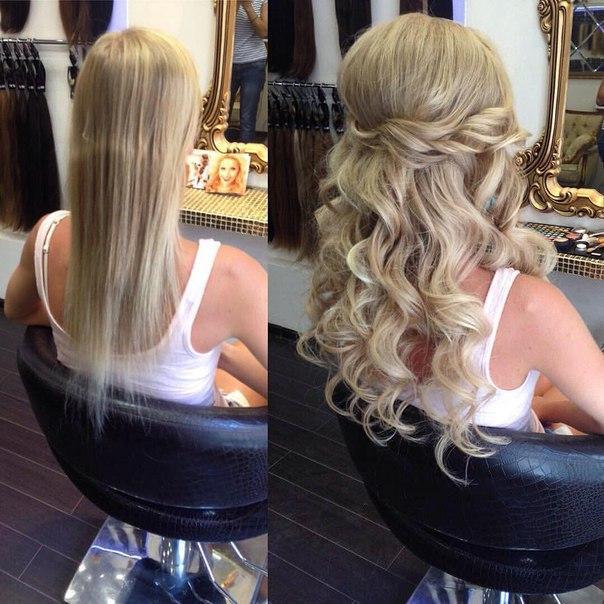 Как сделать причёску с накладными волосами на заколках 626
