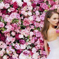 Цветочная фотостена на свадьбу - услуги первого класса